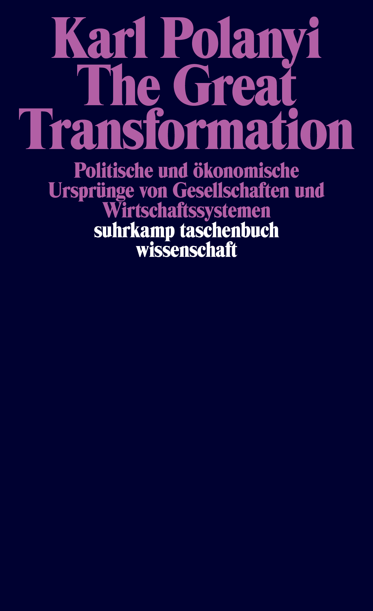 Polanyi, Karl: The Great Transformation, 1973